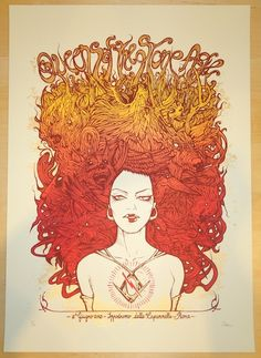 2014 Queens of the Stone Age - Rome Concert Poster by Malleus