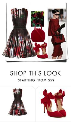 """""""The Beauty in Red"""" by amanihanbali ❤ liked on Polyvore featuring Elie Saab, Ralph Lauren and Simone Rocha"""