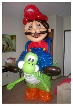Super Mario, Friends and Family!!. #Balloons