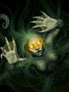 Dark mermaid- webbed fingers