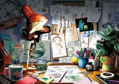 Pixar: The Artist's Desk (1000 Piece Puzzle by Ravensburger)