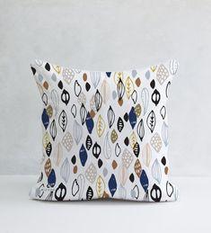 Blue Seeds Decorative Pillow 100% cotton Cushion Cover por Micush