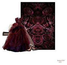 Colours Series #1 Deep RED Roses by babygurl7191 on Polyvore featuring moda, Christian Louboutin and Billini