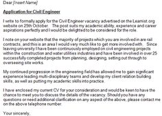 Civil Engineer Cover Letter Example | cover letter examples ...