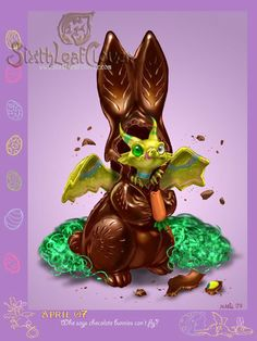Easter-Dragon-Easters unique chocolate by Sixthleafclover