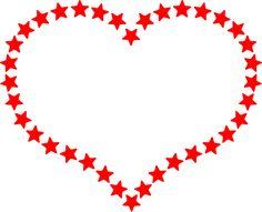 Red Star Outlined Heart Clip Art at Clker.com - vector clip art .