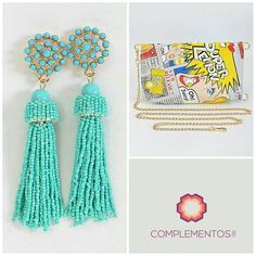 Qué te parece estos aretes en mostacillos y Cómic Clutch super colorido?  Complementate!  Para pedidos : 809 853 3250 / 809 405 5555 Pagos a traves de Paypal  Delivery   #newcollection #necklace #fun #colorful #foryou #accesories #chic #trendy #delicate #precious #glam #gorgeous #unique #byou #becomplete #pretty #complementosjewelry #complementosrd