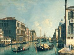 The Grand Canal, Venice Art Print by Canaletto at Art.com