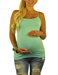 c2945f4b3364a Green Maternity Tank Top - Stay Cool Maternity Jeans, Maternity Tops,  Maternity Dresses,