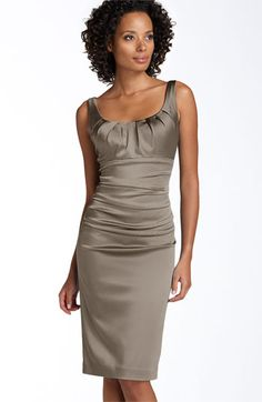 Metallic satin dress for wedding. Just need to find a cute cardigan to go with!