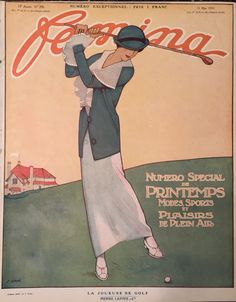 Femina magazine 15 May 1913 Lady Golfer Cover