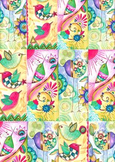 Craft Patterns, Fabric Patterns, Hippie Chick, Wonderful Picture, China Painting, Pattern Illustration, Color Pop, Arts And Crafts, Clip Art