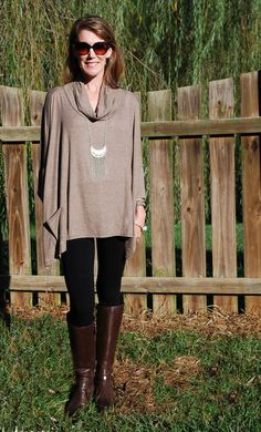 This comfortable Fall basic tunic from Glamour Farms pairs great with jeans and heels for Date Night or with leggings and boots for a more casual look. The top is very forgiving and flows around you, perfect for 'over forty' fashion and transitions nicely for Fall. Shop with the coupon code MAGNOLIA344 to save $10!