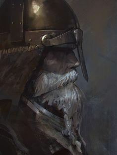 Viking by causelovesky on DeviantArt Fantasy Armor, Medieval Fantasy, Dark Fantasy Art, Medieval Paintings, Medieval World, Viking Art, Character Portraits, Fantasy Characters, Concept Art