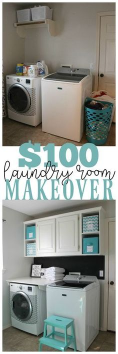 room makeover tips A laundry room makeover doesnt have to cost thousands of dollars. Learn how to transform your laundry room with these simple storage and decor tips. Laundry Storage, Room Makeover, Laundry Mud Room, Room Organization, Room Redo, Room Remodeling, Laundry Room Remodel, Laundry, Basement Laundry