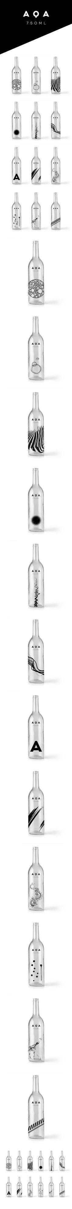 AQA 75 ML - Branding on Behance #packaging