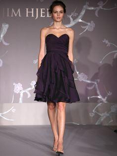 strapless sweatheart bridesmaid dress