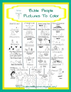 Lots of updated Bible Pictures to Color!