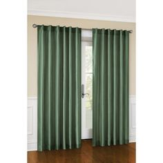 Canopy Faux Silk Lined Curtain Panel