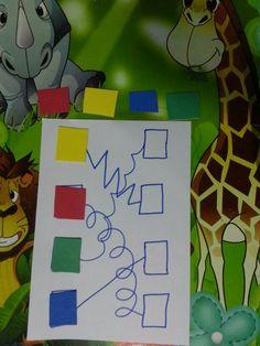 Renkleri çizgileri takip ederek doğru yere yerleştirme♥♥♥