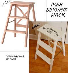 DesignDreams by Anne: Ikea Hack - Bekvam Stepladder Makeover
