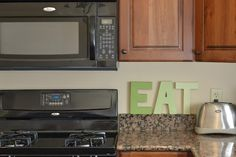 Ask Anna...: DIY Ombre Word Decor  Use stencils if you don't want the 3D letters!