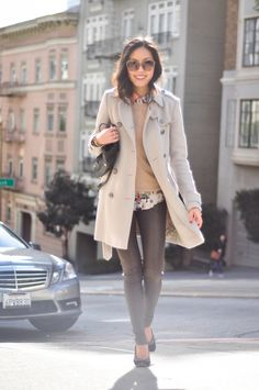 I wish I had the thighs to rock skinny leather pants...Anh from 9to5chic looks amazing!