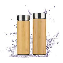 [Outdoor Sports] 2018 Hot selling 360ml/480ml Triple Wall Stainless Steel Bamboo Water Bottle