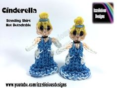 Rainbow Loom Cinderella Princess Action Figure/Charm - 2D Standing Doll