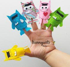 Emotions Preschool, Puppets For Kids, Finger Puppets, Monster, Playroom, Kindergarten, Crafts For Kids, Animation, Activities