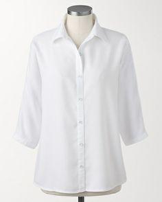 c73a3aaf726ab Vivid Tencel® dolman shirt -  K24115  Crisp White Shirt