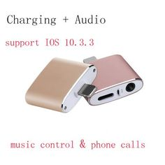 Hot Price For iphone 8 adapter charging and earphones Aux Jack Bluetooth Call+Audio+Charge splitter for iPhone 7 Plus IOS 11 . Iphone 7 Plus, Iphone 8, Iphone Cases, Iphone Headset, Call Support, New Ios, Best Computer, Sport Watches, Usb Flash Drive