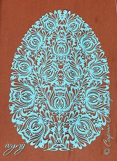 Картина панно рисунок Пасха Вырезание К Пасхе Бумага фото 1
