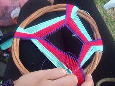 ¡Cómo hacer un atrapasueños-mandala! - Taringa! Flip Flops, Dream Catchers, Color, Wind Chimes, Diy, Ideas, Craft, Making Dream Catchers, Gods Eye