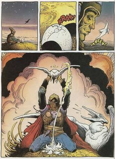 Page #8. Arzaq short story by Moebius and William Stout. 1996