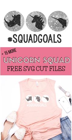 Unicorn SVG Cut Files - free cut files for use with digital cutting machines like Cricut and Silhouette. Squad Goals Shirts, Country Chic Cottage, Cricut Tutorials, Cricut Ideas, Cricut Craft Room, Free Girl, Free Svg Cut Files, Iron On Vinyl, Silhouette Cameo Projects