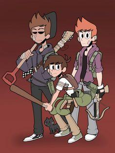 Edd, Tom and Matt punk AU