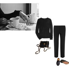A fashion look from December 2014 featuring Theory sweaters, Chloé capris and Dieppa Restrepo loafers. Browse and shop related looks.