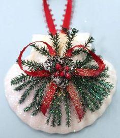 Irish Scallop Pinecone Christmas Ornament (http://www.caseashells.com/irish-scallop-pinecone-ornament/):