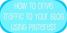 Pinterest and blog traffic...