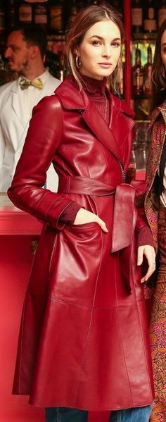 Red Leather, Leather Jacket, Mantel, Sexy, Jackets, Women's Fashion, Outfits, Girls, Leather