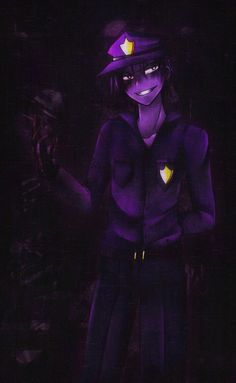 Five Night At Freddy's Purple Guy <<< awesome fanart Five Nights At Freddy's, Fnaf Drawings, Cool Drawings, Vincent Fnaf, My Little Pony, Fnaf Night Guards, William Afton, Freddy 's, Fnaf Characters