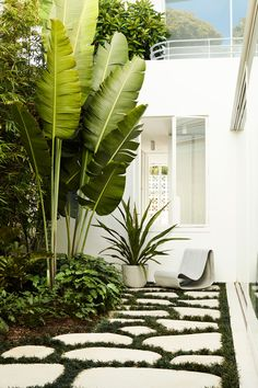 tropical landscaping Sculptural Outdoor Furniture and Accessories by Swisspearl - Design Milk Tropical Garden Design, Tropical Landscaping, Modern Landscaping, Front Yard Landscaping, Landscaping Ideas, Tropical Gardens, Tropical Patio, Hydrangea Landscaping, Outdoor Plants
