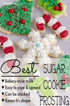 This is the BEST Sugar Cookie Frosting Recipe