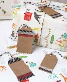 Upcycled Gift Tags - Make Christmas gift tags out of recycled cereal boxes.