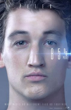 Miles Teller as Peter in the official character poster for The Divergent Series: Allegiant (2016).