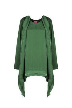 Twin-set de seda verde TERIA YABAR Otoño Invierno 2019 2020 Sweatshirts, Blouse, Long Sleeve, Sleeves, Sweaters, Tops, Women, Fashion, Long Robe