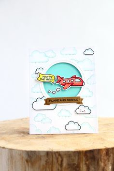 Simple lawn Ideas - Stitched cloud backdrop (Lawn Fawn inspiration week) (Just ME Prints). Boy Cards, Kids Cards, Cards Diy, Card Making Inspiration, Making Ideas, 2017 Inspiration, Lawn Fawn Blog, Lawn Fawn Stamps, Interactive Cards
