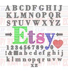 Complete set of chevron letters chevron heart by DavesDigitalArt #chevron
