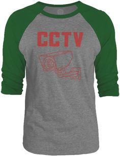 Big Texas CCTV (Red) 3/4-Sleeve Raglan Baseball T-Shirt